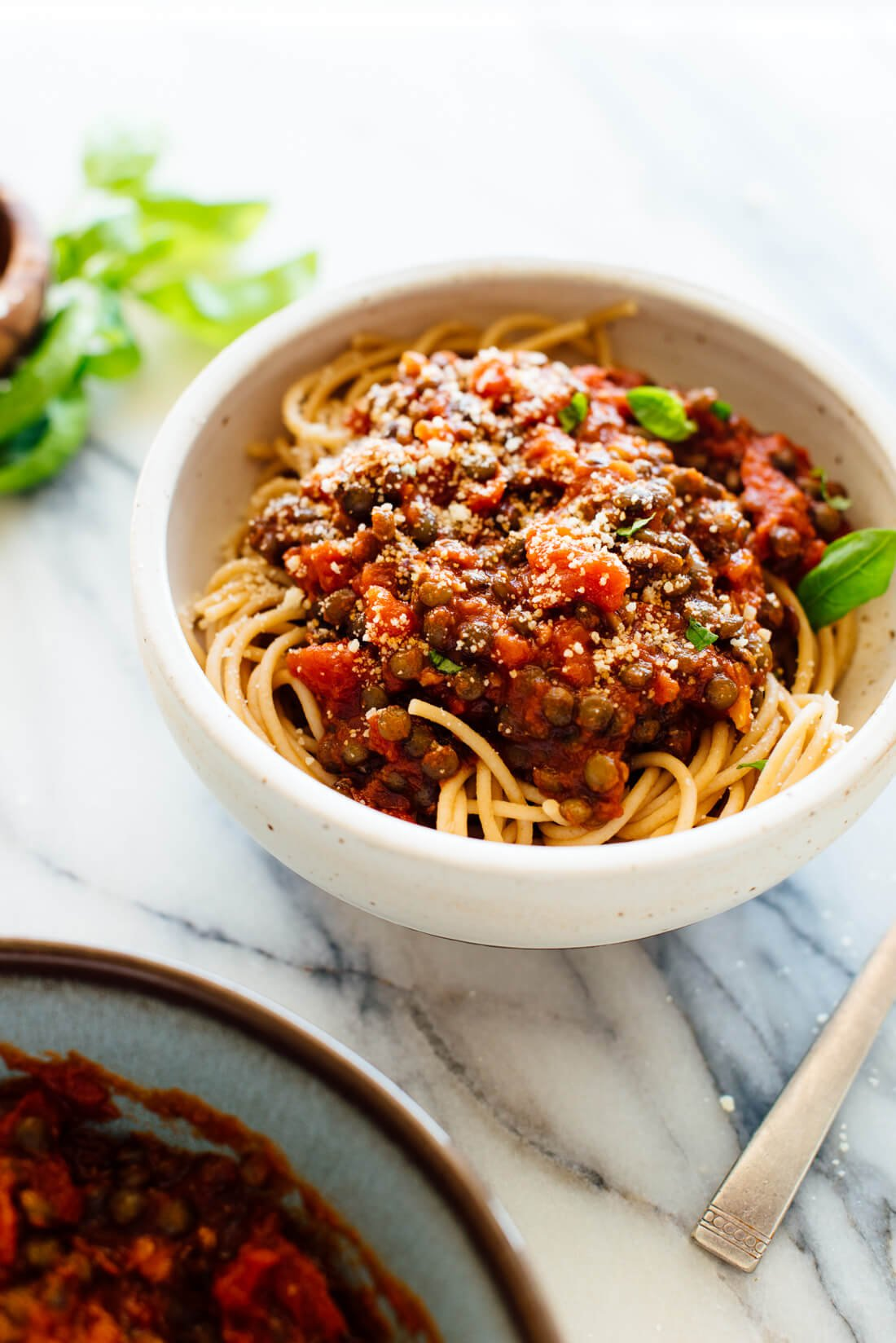 lentils with marinara sauce and pasta recipe