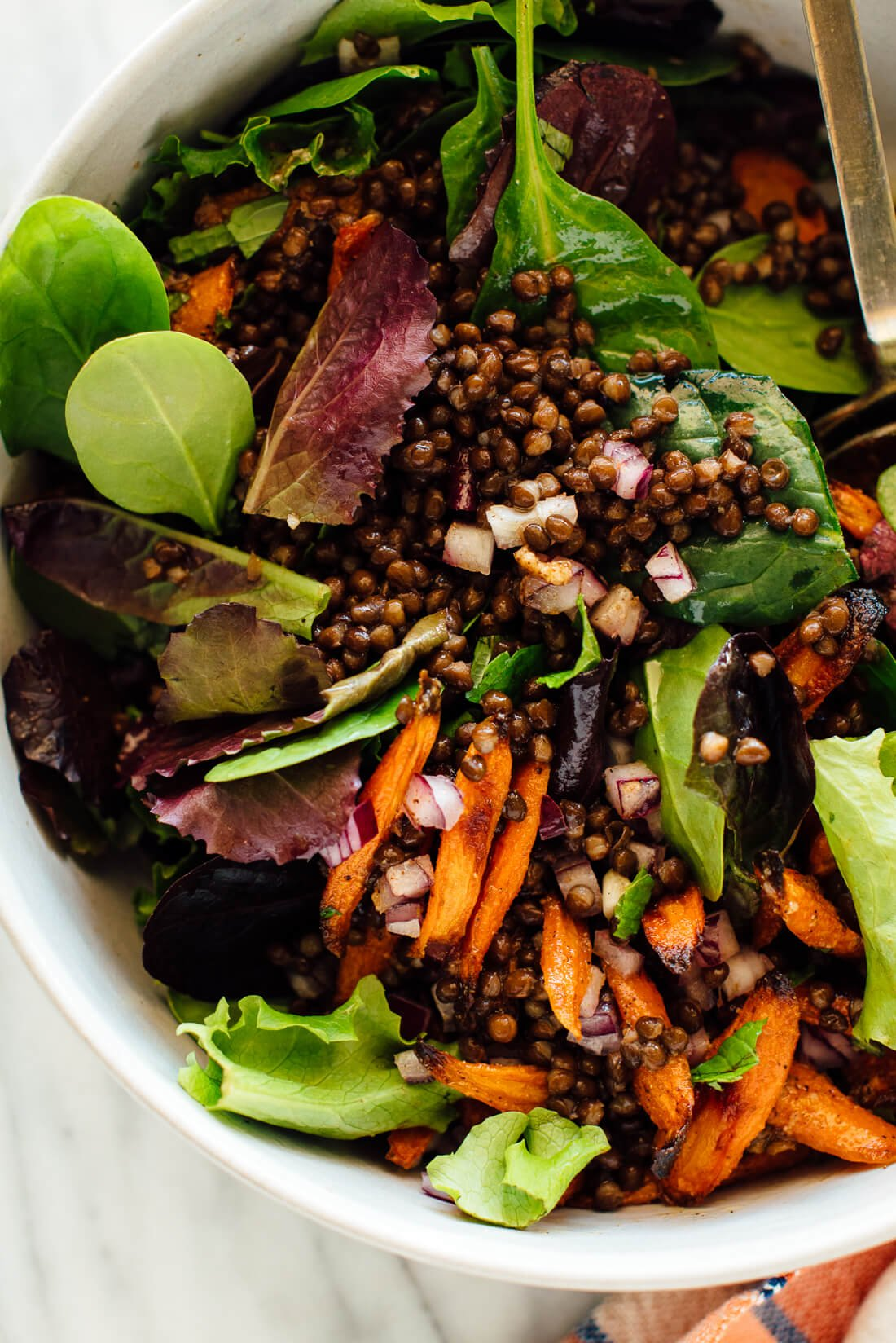 masala lentil salad recipe