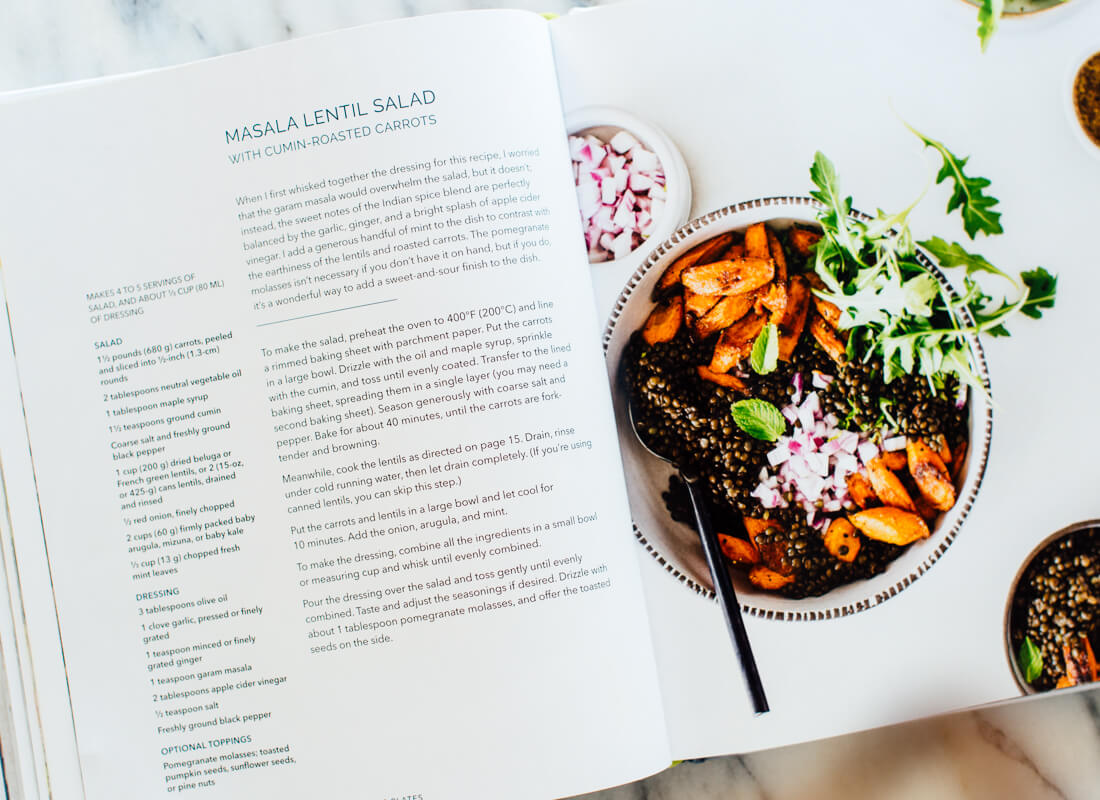 masala lentil salad recipe in Power Plates cookbook