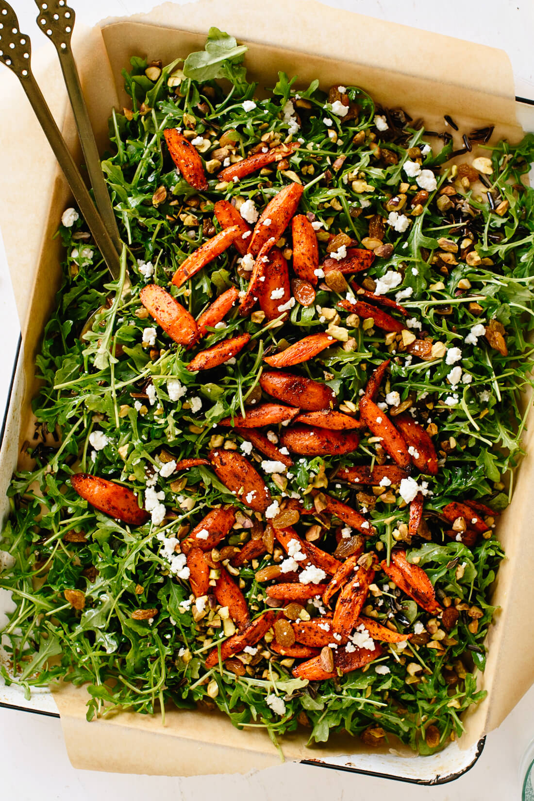 Moroccan Roasted Carrot, Arugula, and Wild Rice Salad