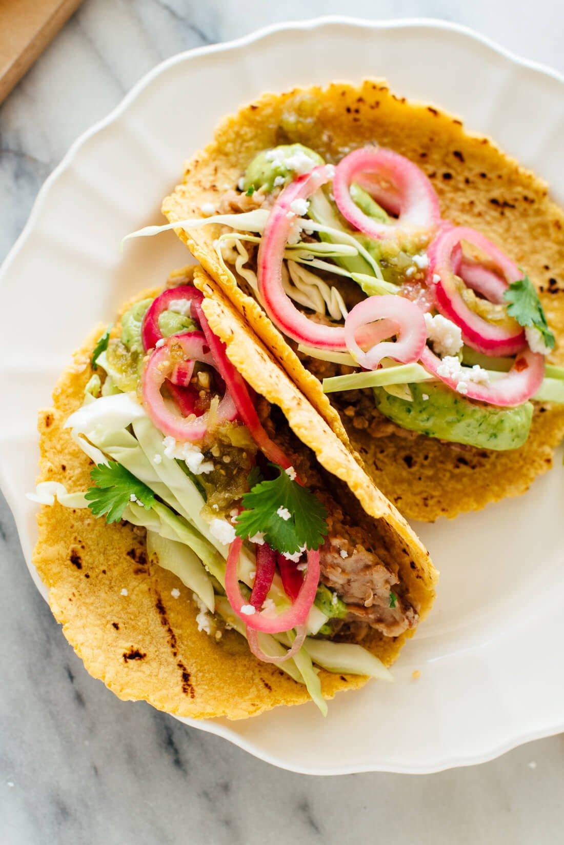delicious vegetarian tacos recipe
