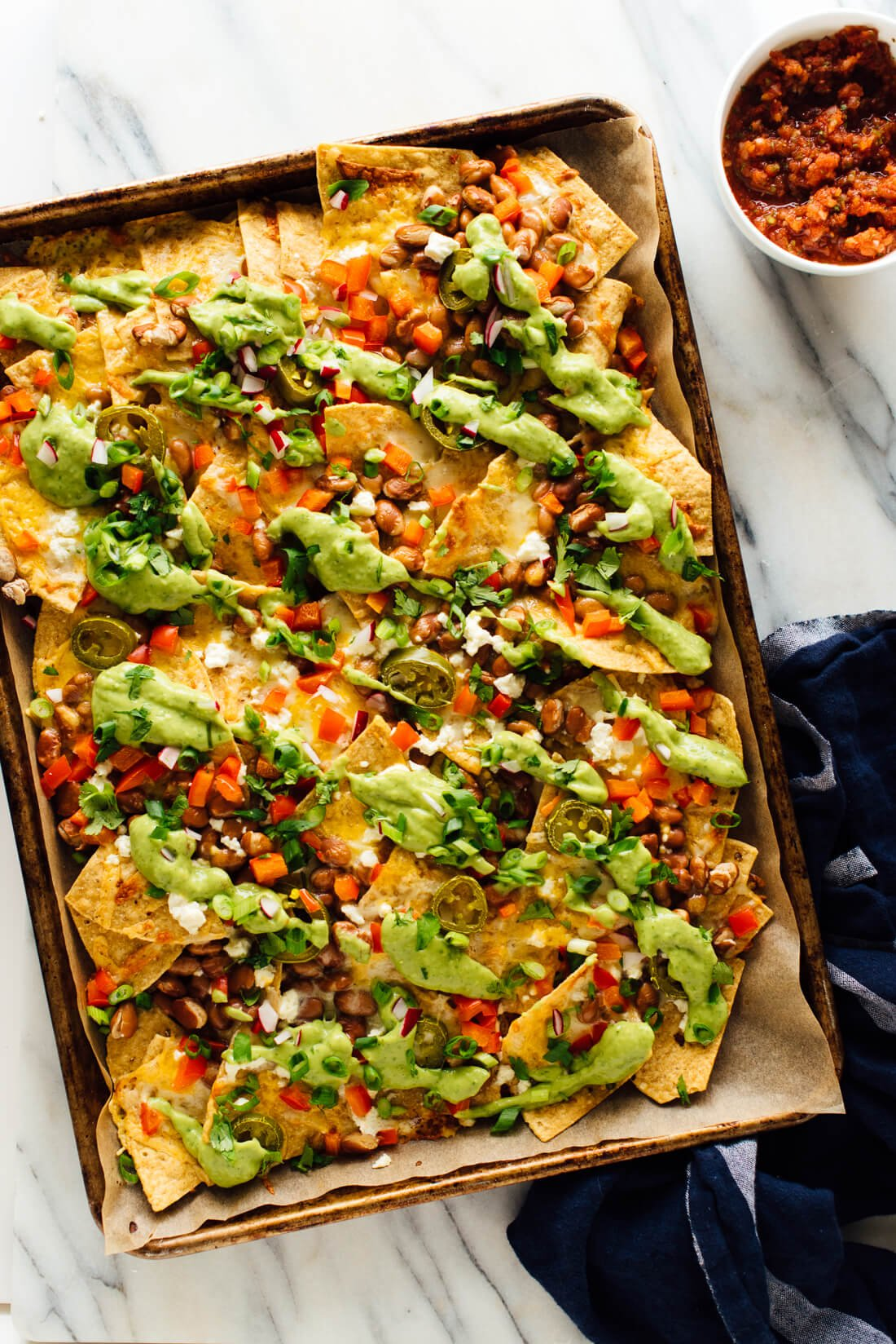 loaded vegetable nachos recipe