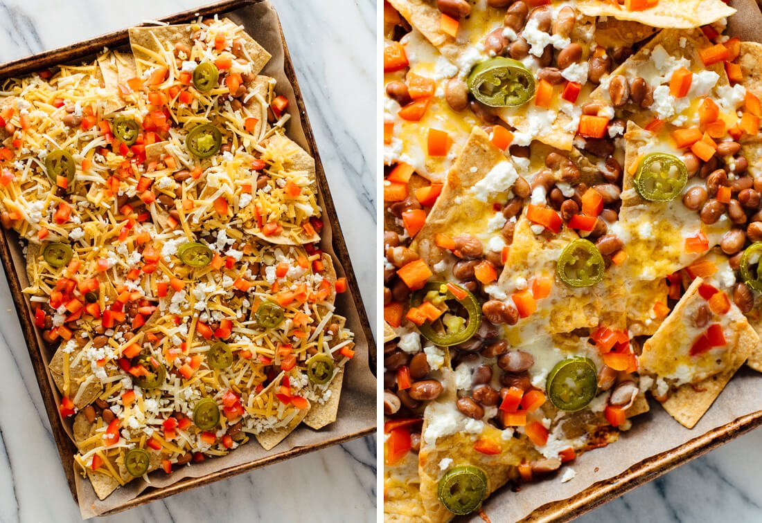 nachos before and after baking