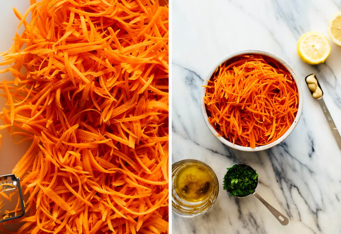 French carrot salad ingredients