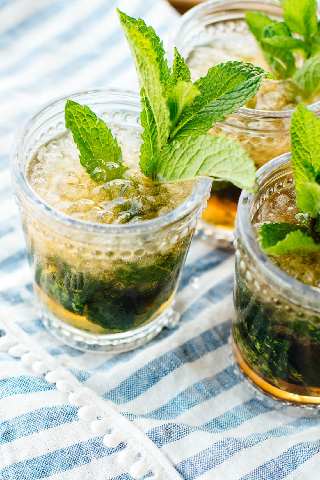 maple mint julep cocktail