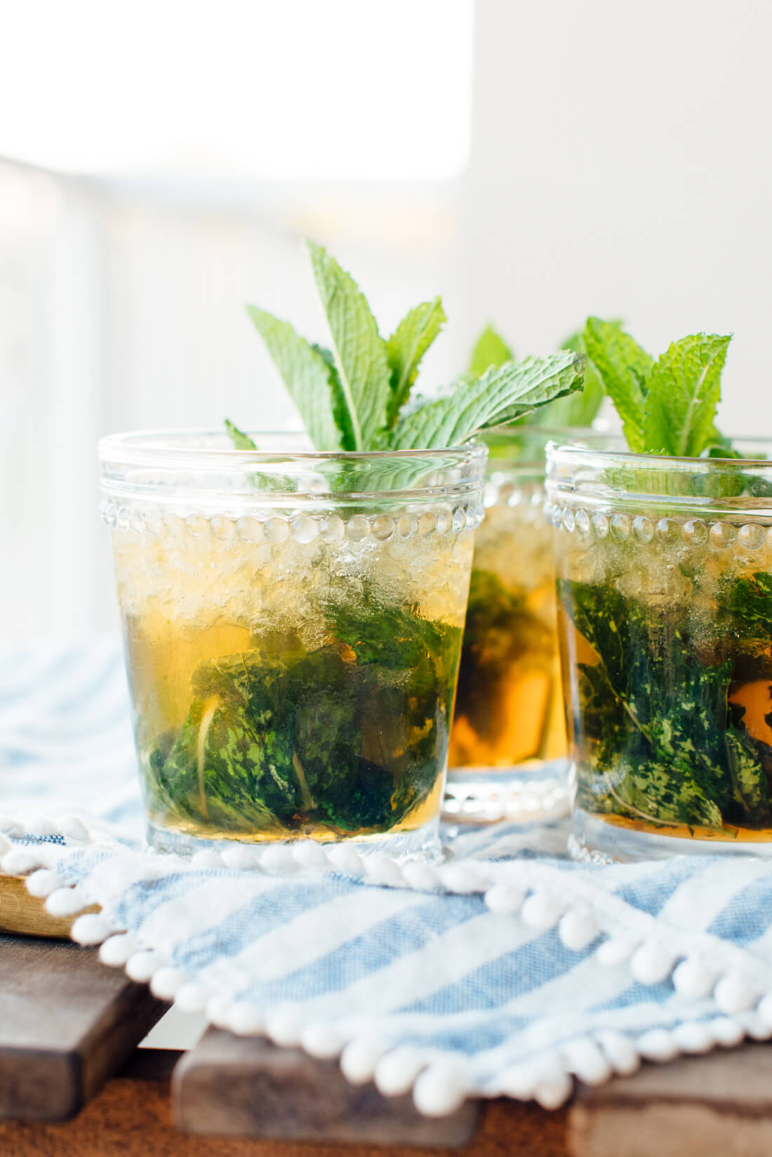 maple-sweetened mint julep recipe
