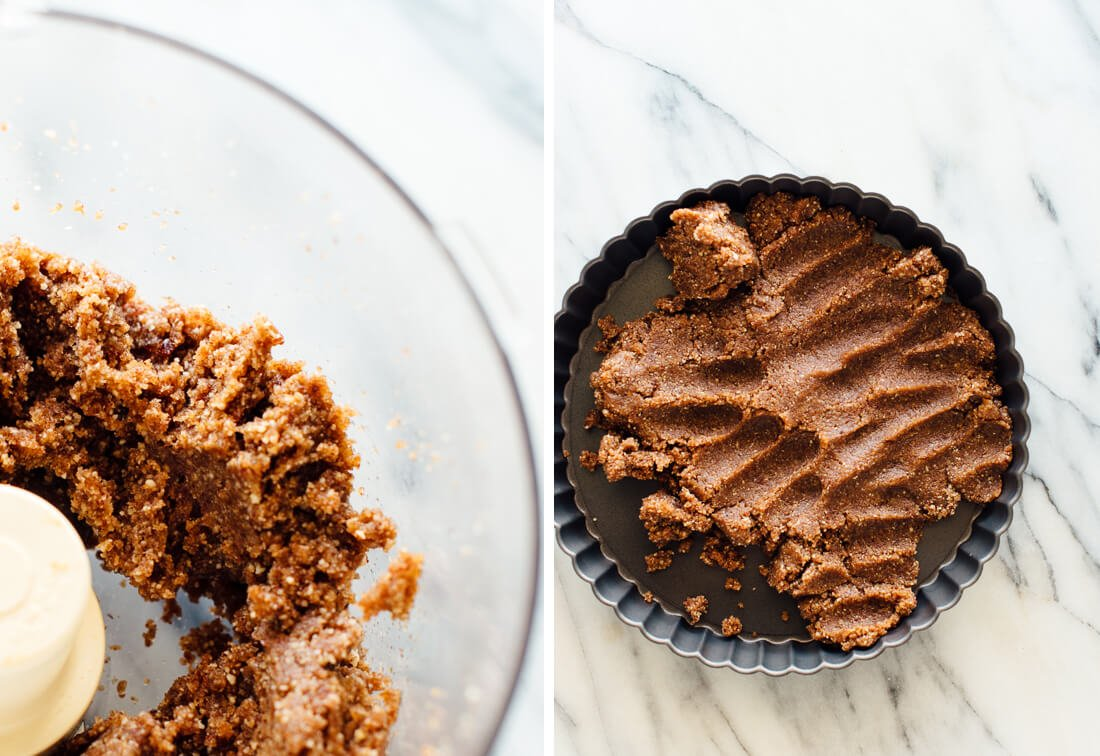 no-bake pecan and date crust