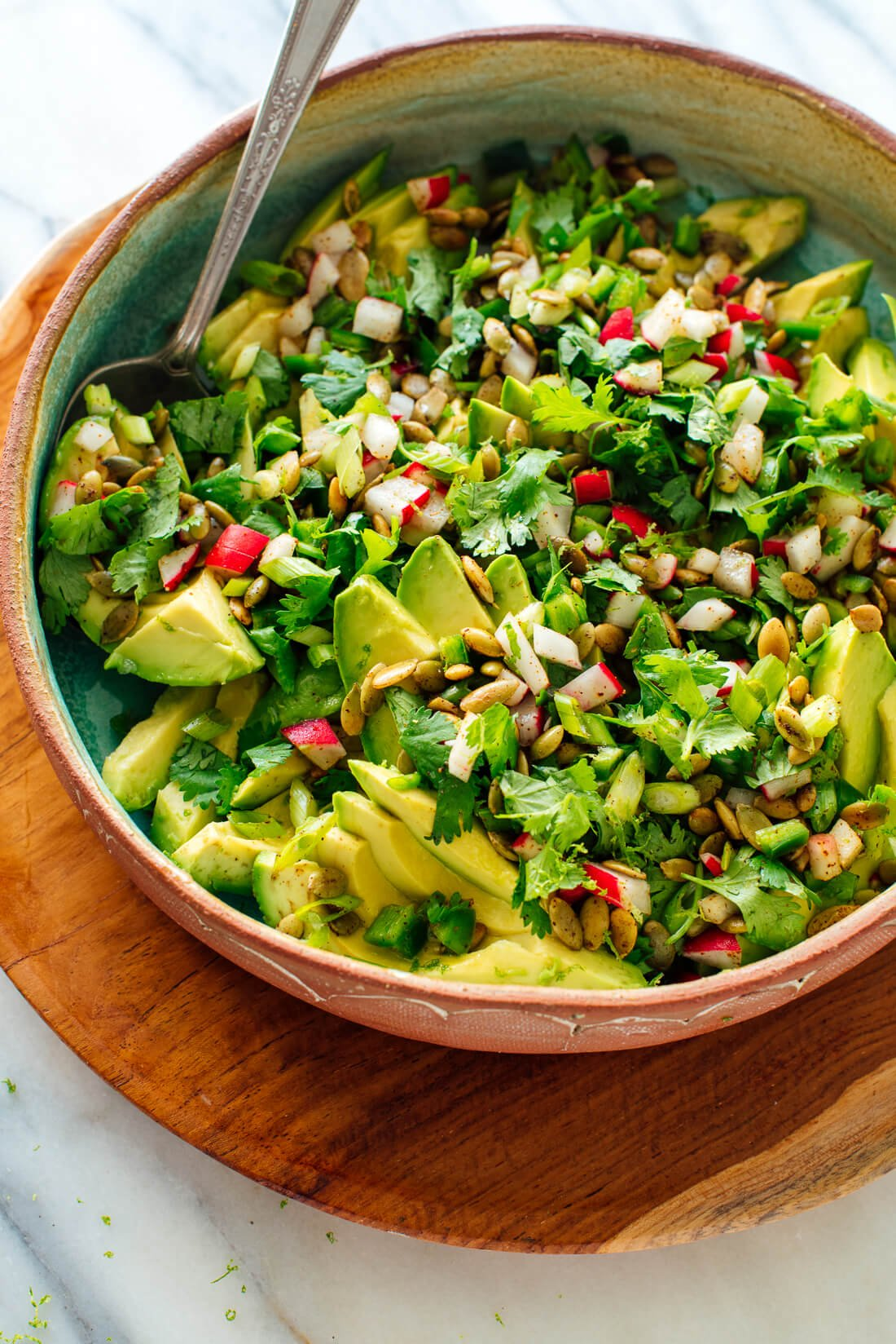 Fresh Herbed Avocado Salad