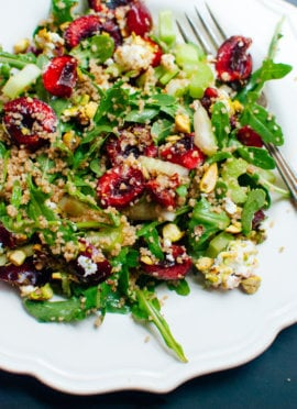 Cherry Couscous & Arugula Salad with Balsamic Vinaigrette