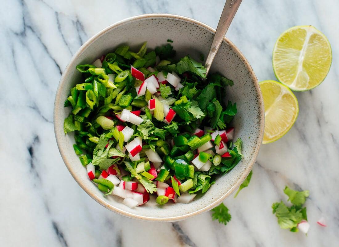 fresh herb radish mix
