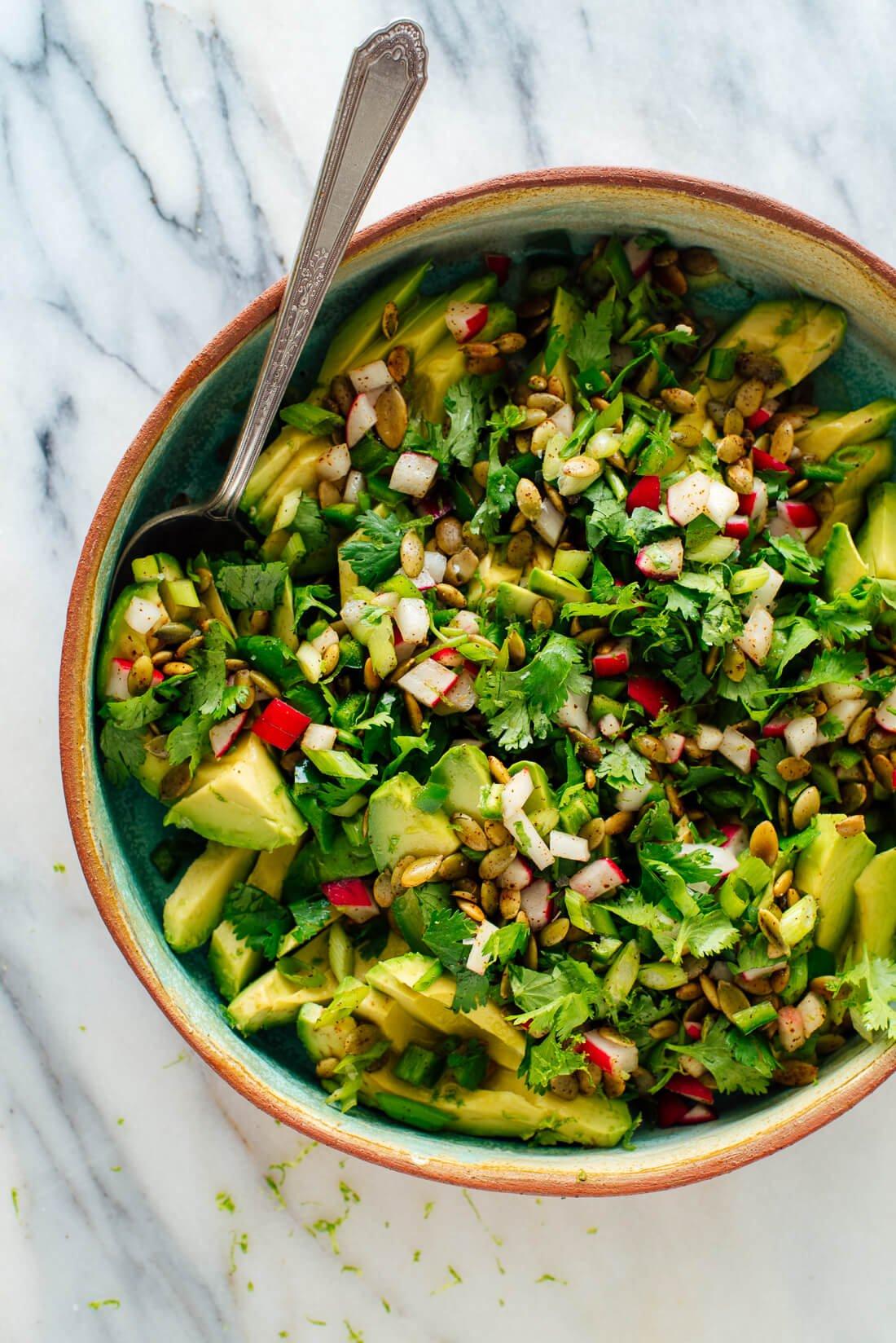 fresh herbed avocado salad recipe