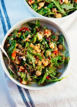 Greek farro salad recipe