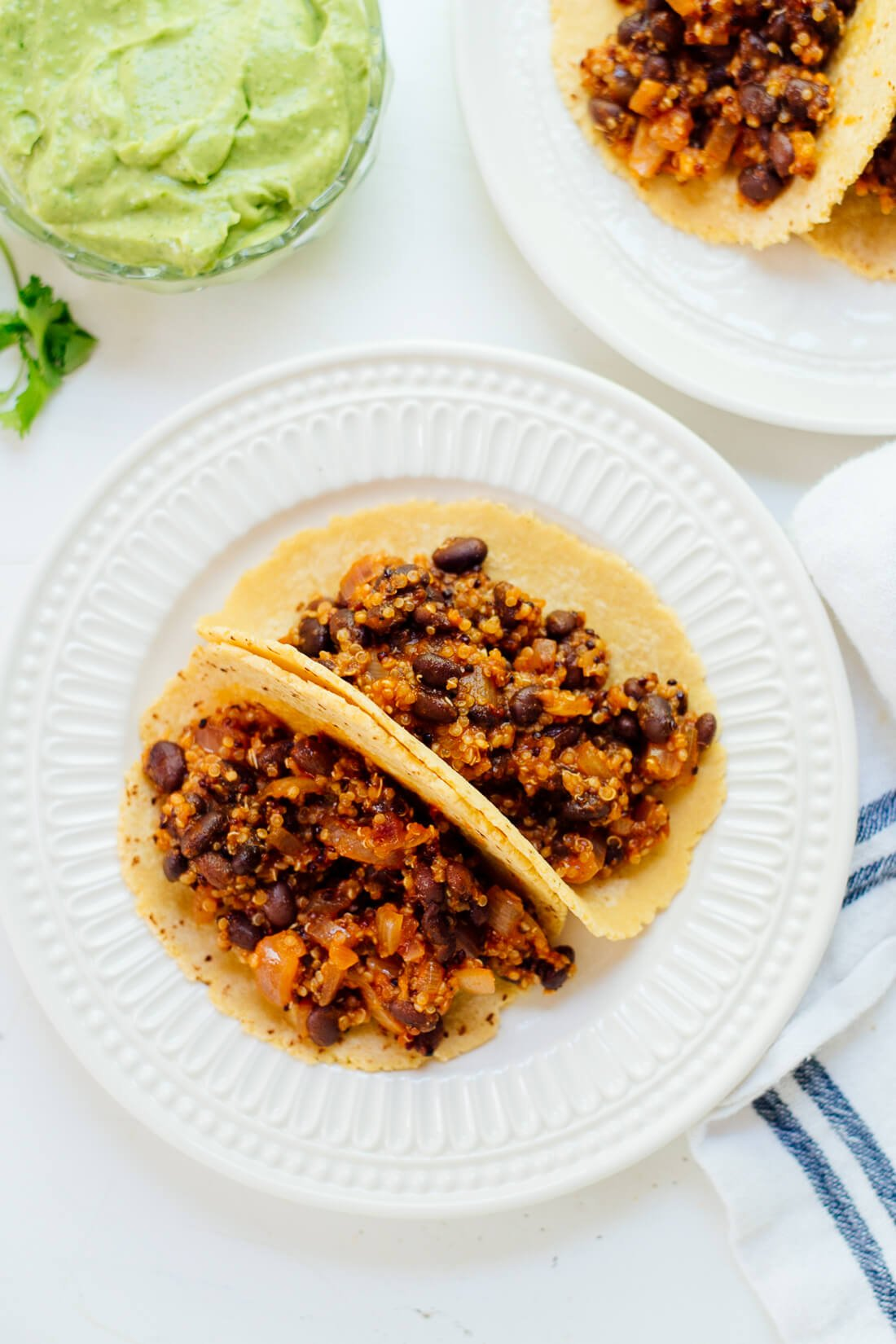 How to make quinoa black bean tacos