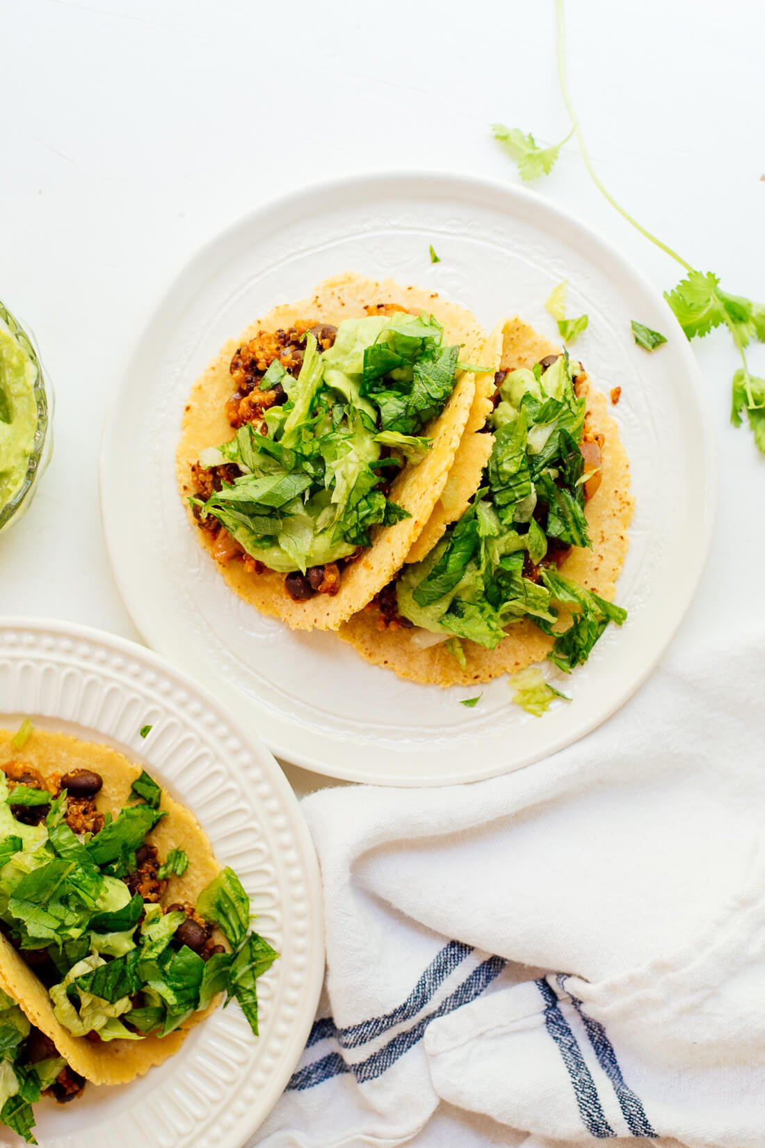 Quinoa black bean tacos, a healthy and delicious dinner!