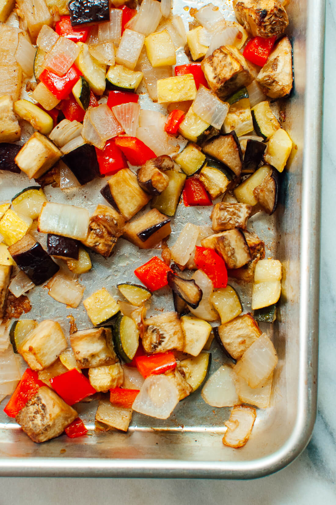 Simple roasted ratatouille