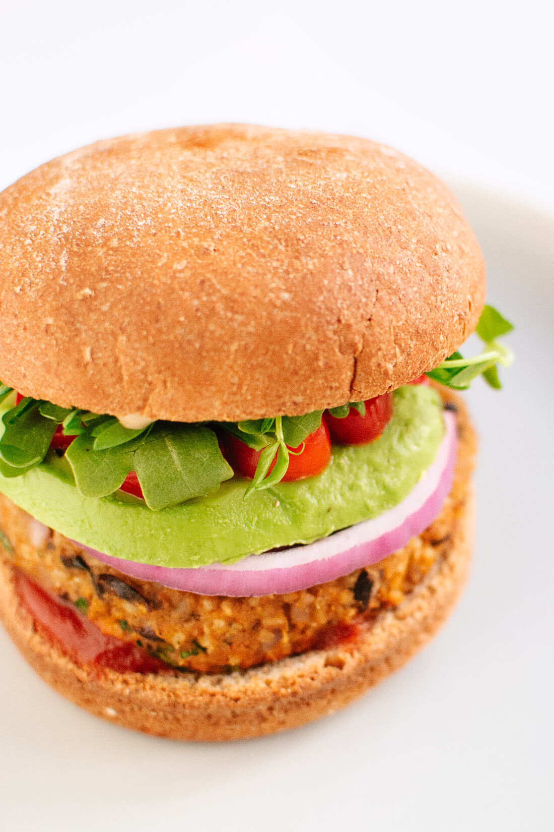 Sweet potato & black bean veggie burger recipe