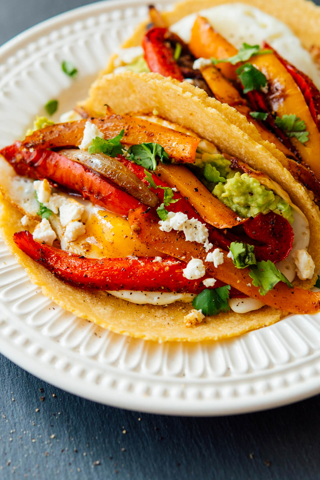 breakfast fajitas from love real food cookbook