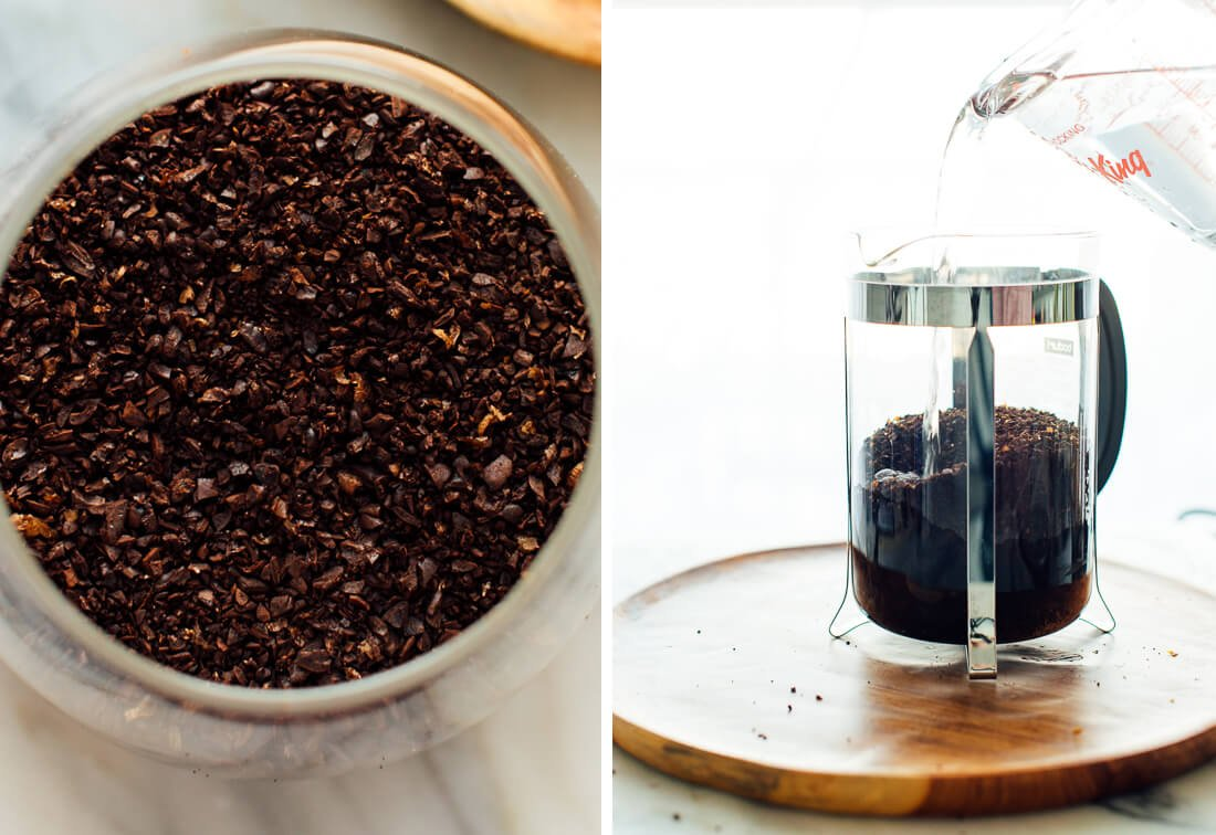 coarsely ground coffee for cold brew