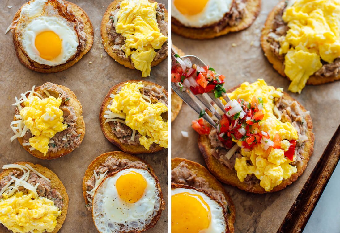 how to make breakfast tostadas