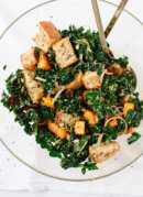 Balsamic Butternut, Kale and Cranberry Panzanella