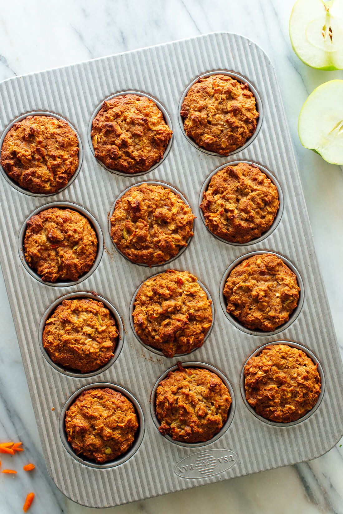gluten free apple carrot muffins recipe