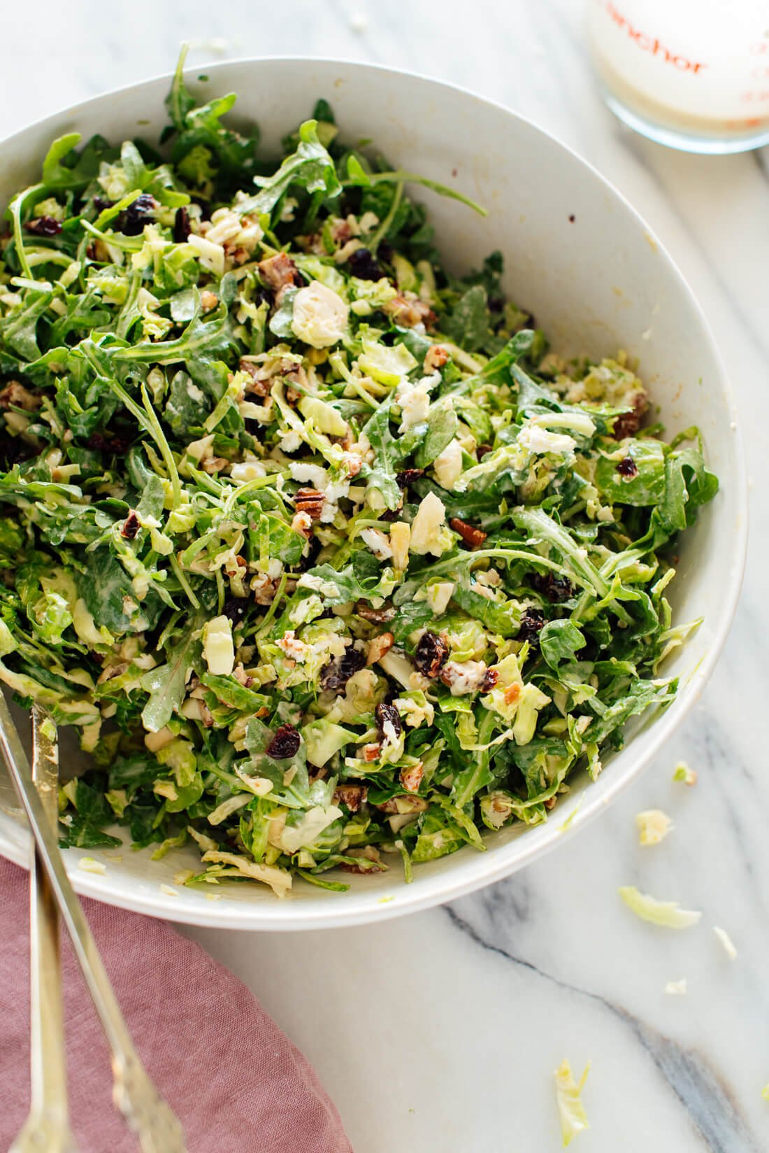 brussels sprout arugula salad recipe