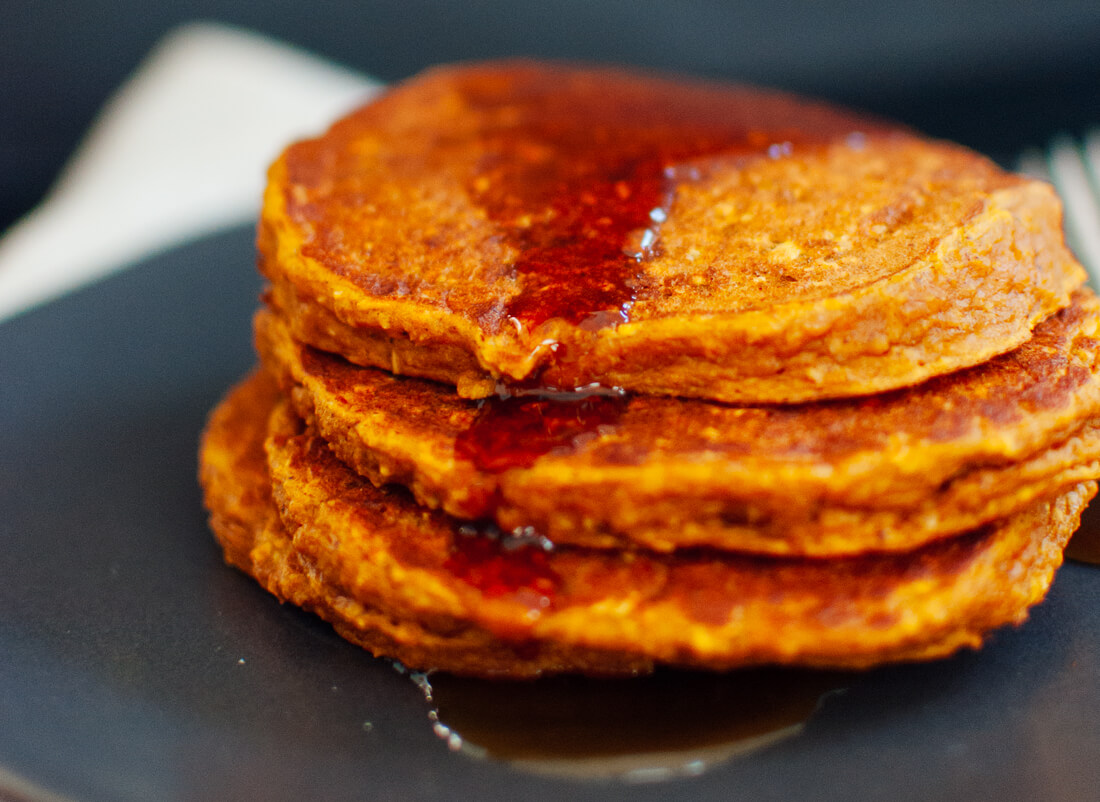 Pumpkin oat pancakes recipe