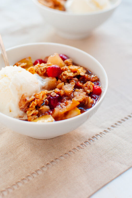 Pear Cranberry Crisp Free Recipe from Cookie and Kate