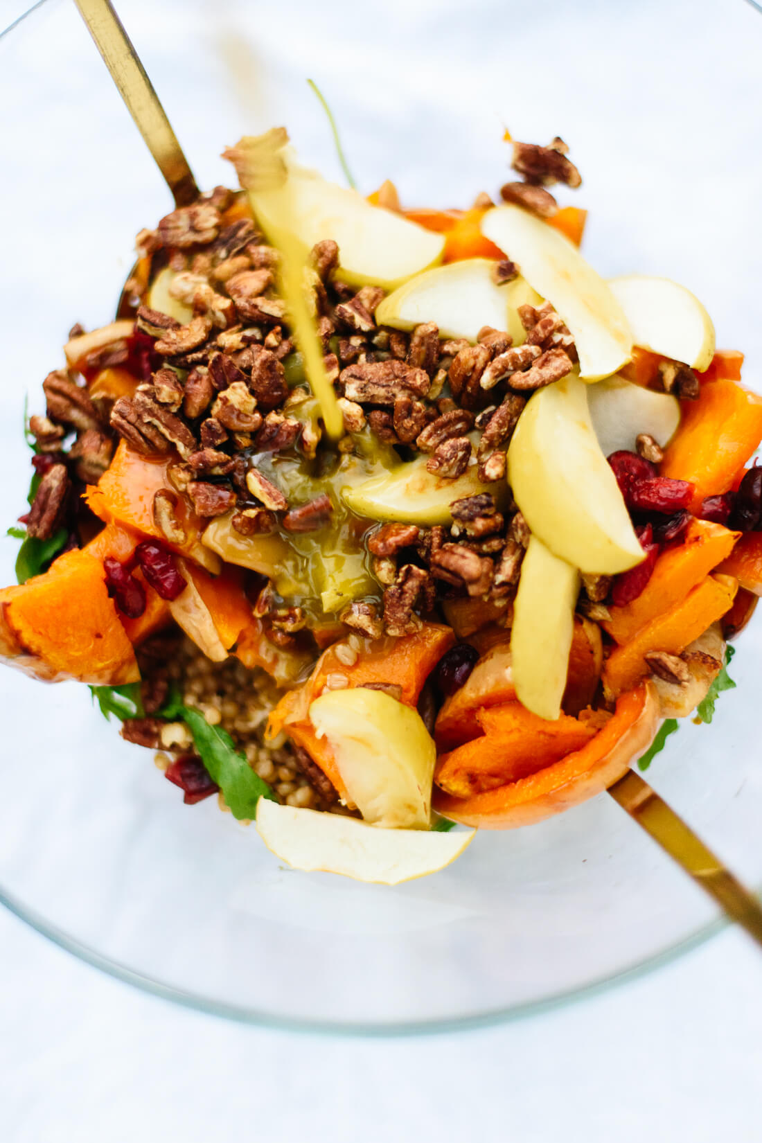 How to make a hearty, roasted-butternut squash and apple salad!