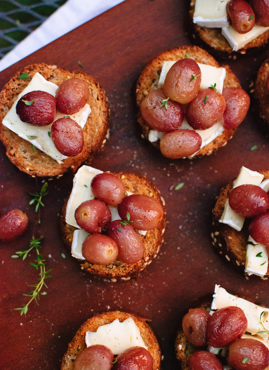 Simple roasted grape crostini recipe