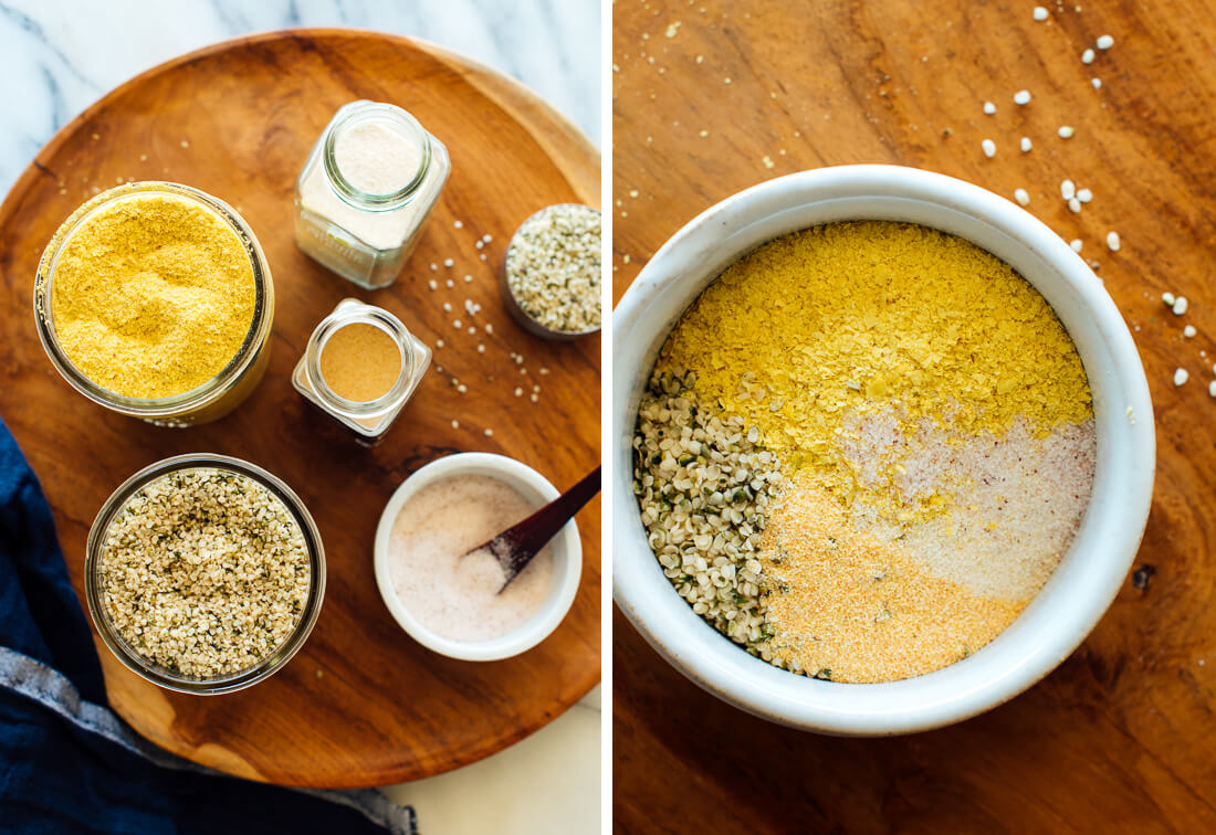 vegan Parmesan ingredients