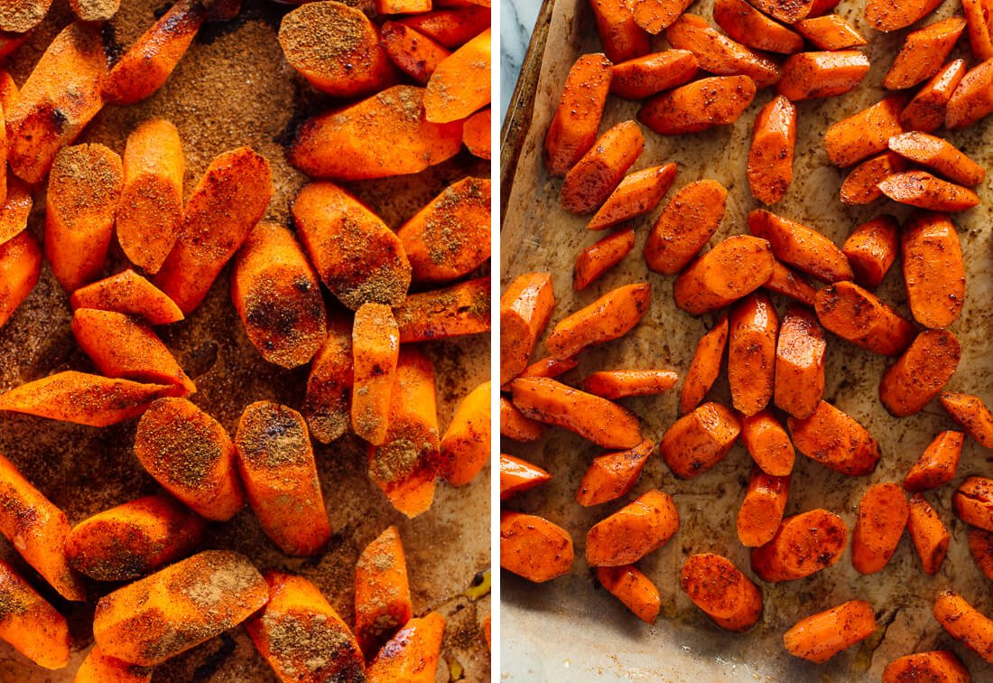 how to make spiced roasted carrots