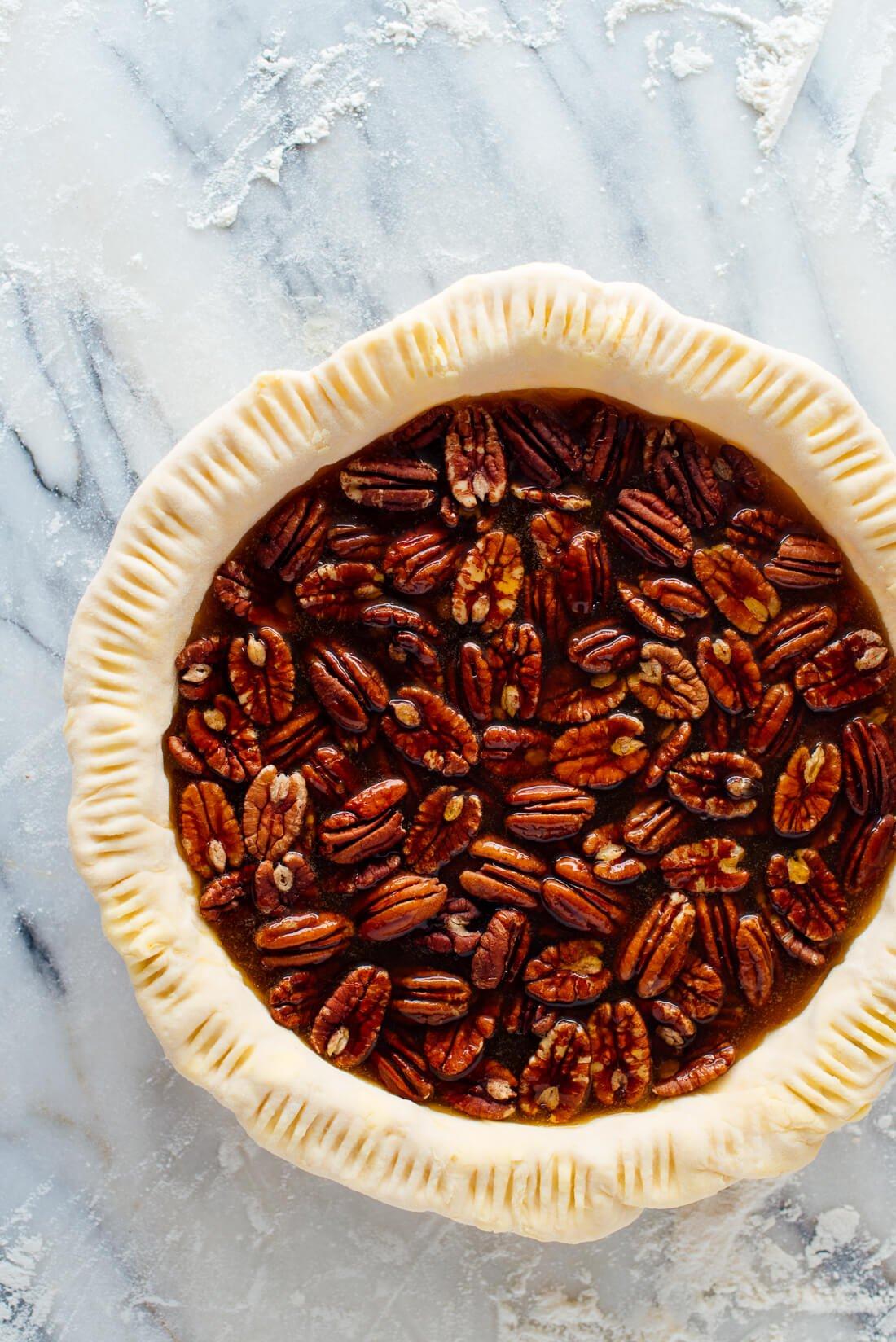 maple pecan pie (ready to bake)
