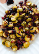 roasted brussels sprouts with balsamic vinegar drizzle