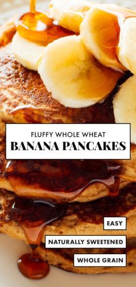 whole wheat banana pancakes recipe for pinterest