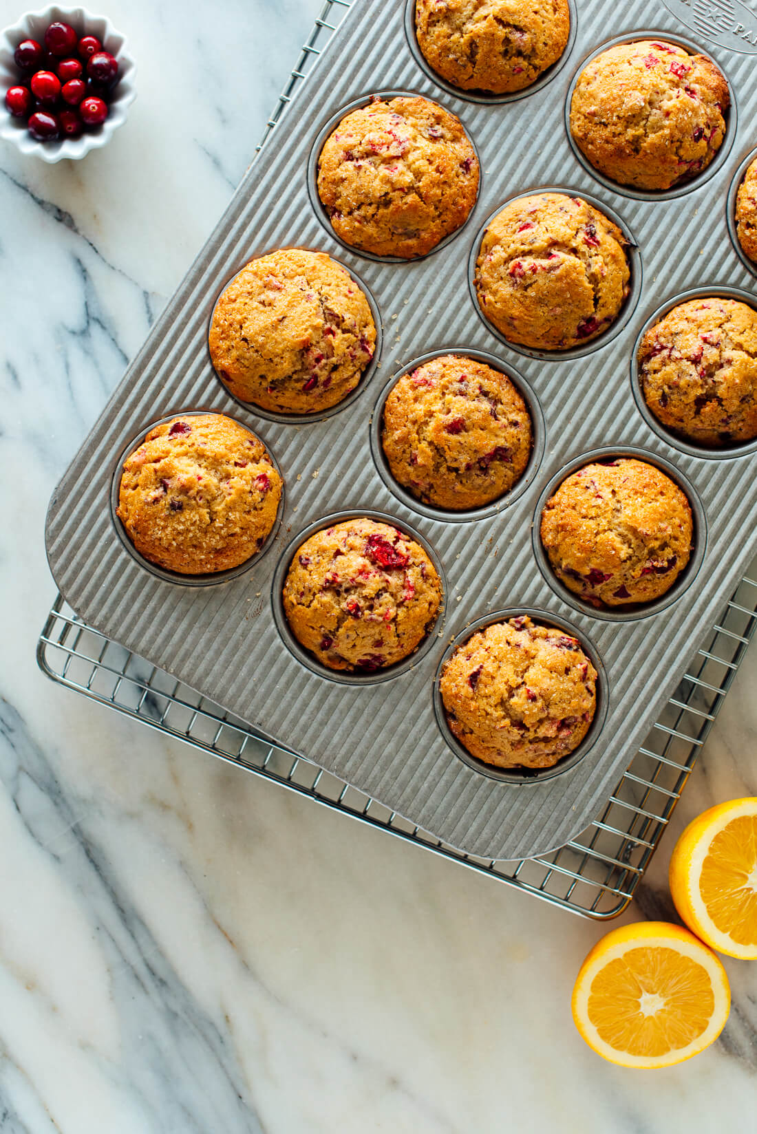 baked cranberry orange muffins
