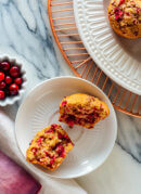 Fluffy Cranberry Orange Muffins