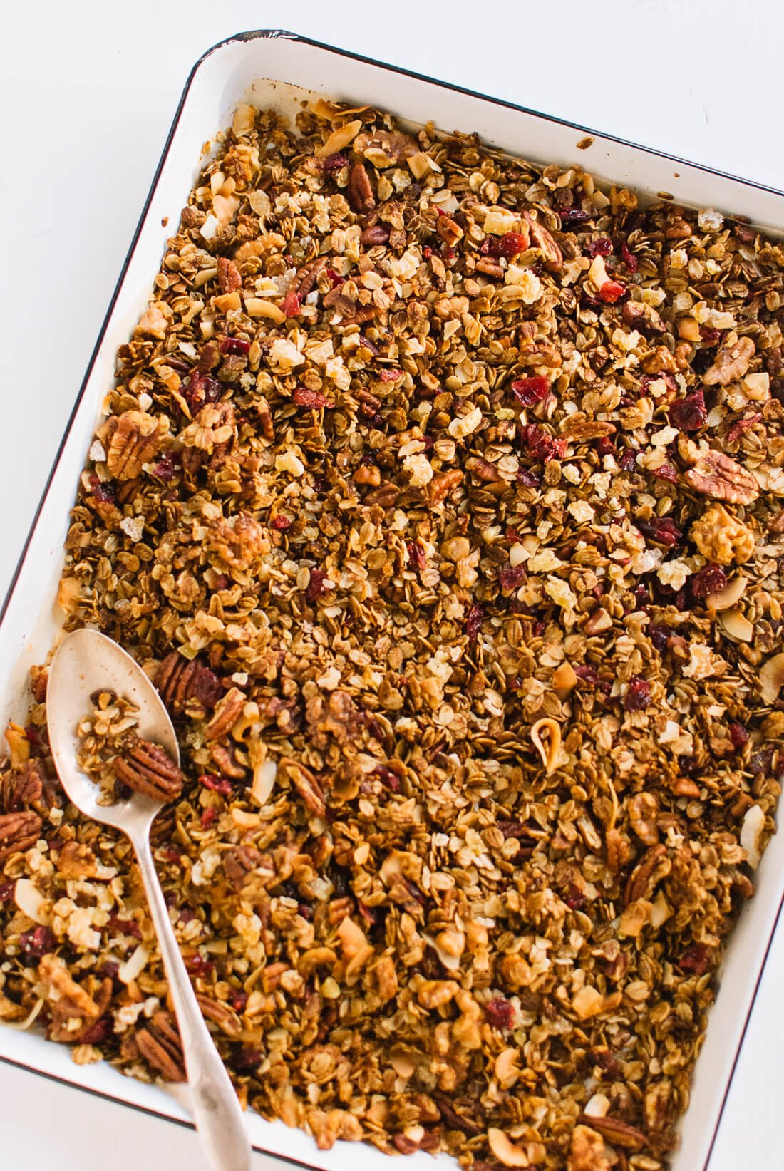 Healthy homemade gingerbread granola
