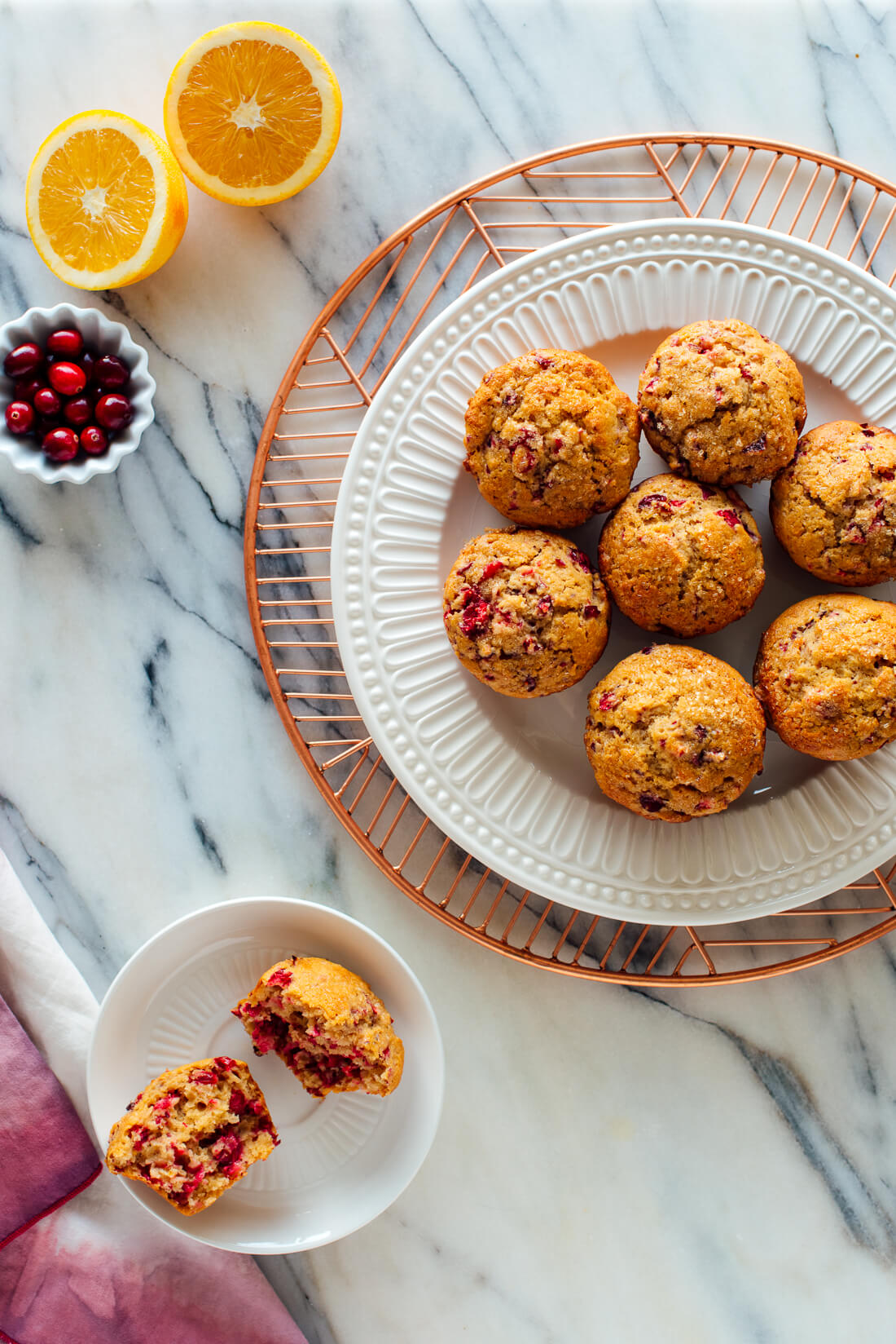 healthy cranberry orange muffins recipe