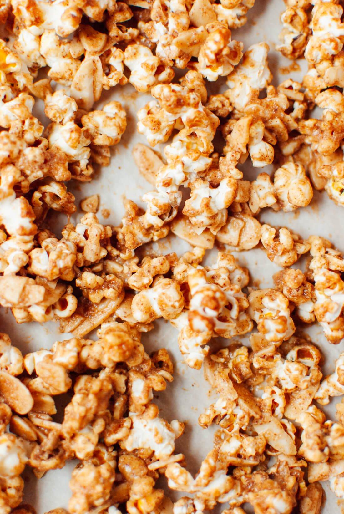 Healthy caramel popcorn recipe