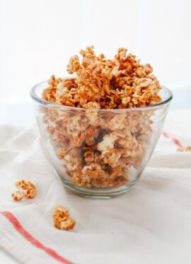 Maple almond caramel popcorn