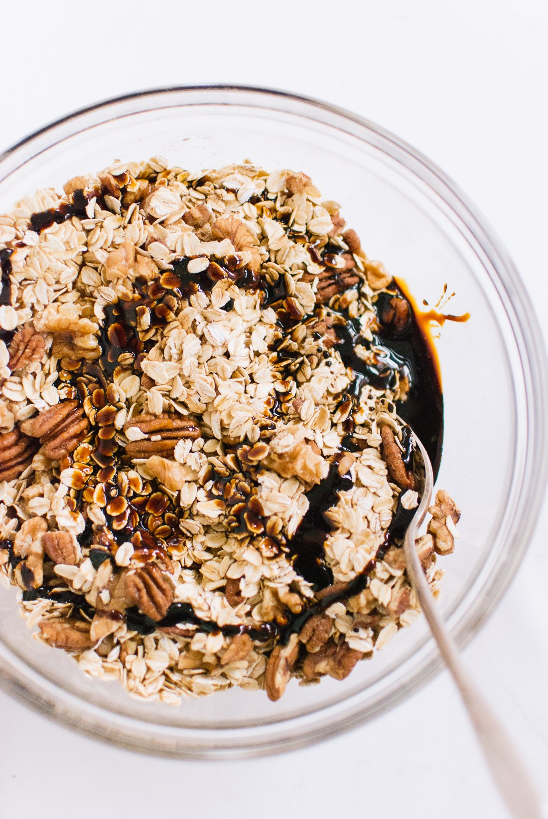 oats, nuts, molasses and maple syrup