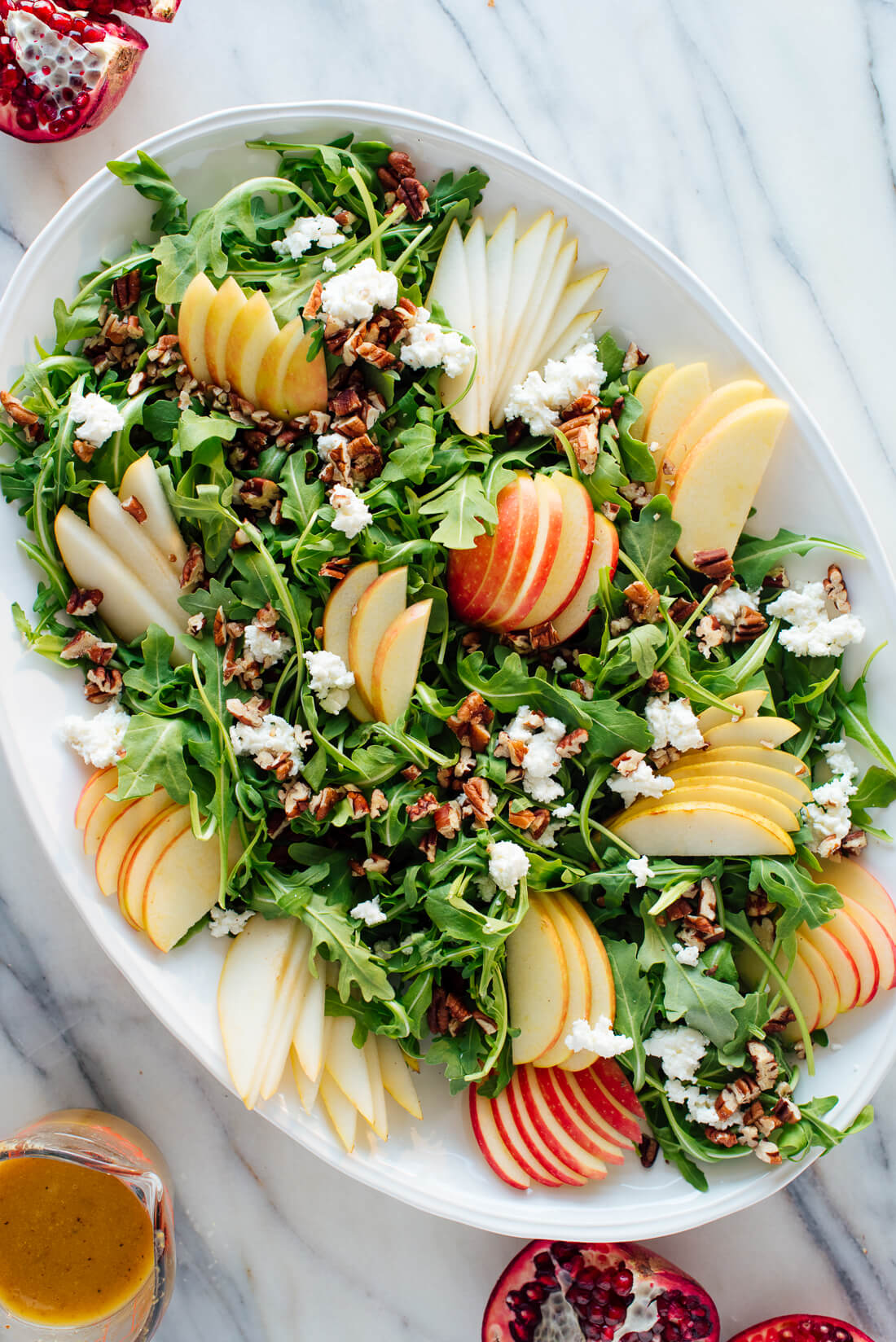 how to make pomegranate pear honeycrisp salad