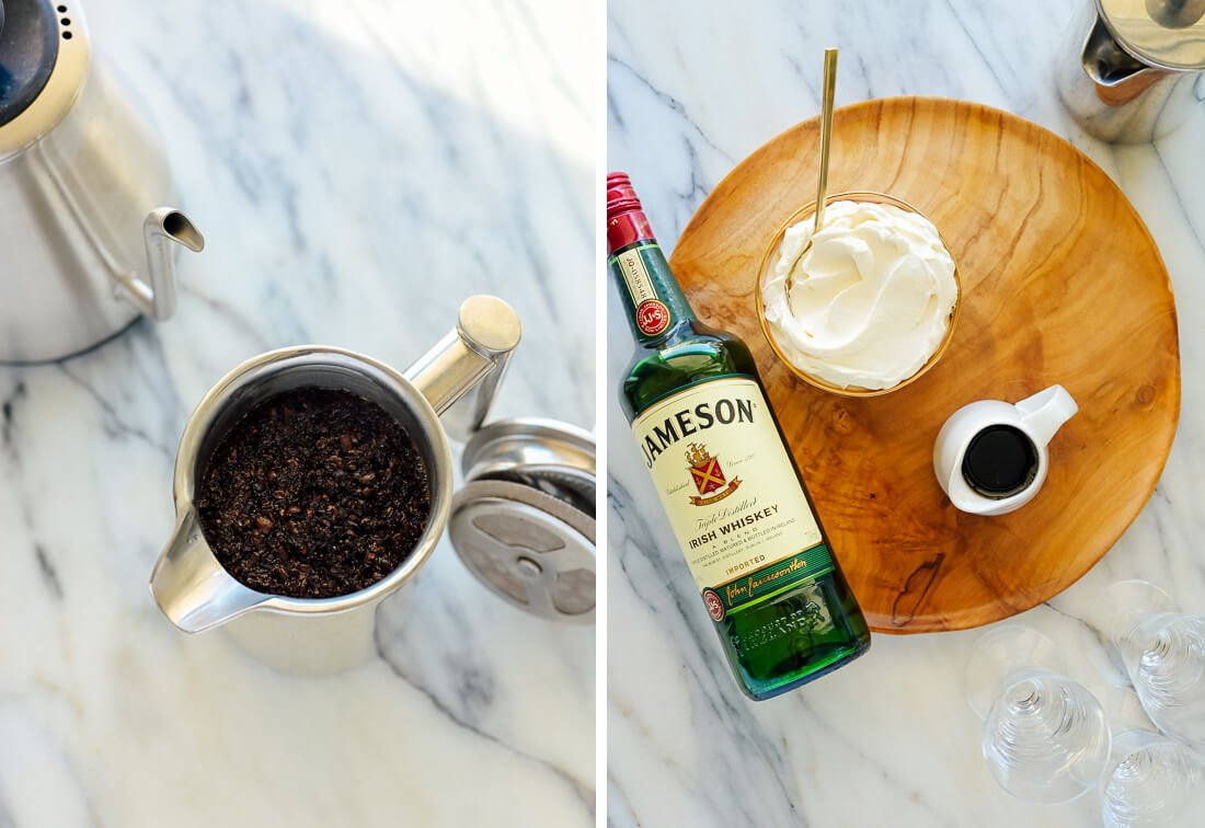 Irish coffee ingredients