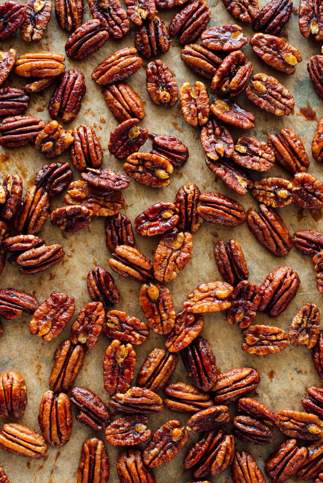 maple candied pecans recipe