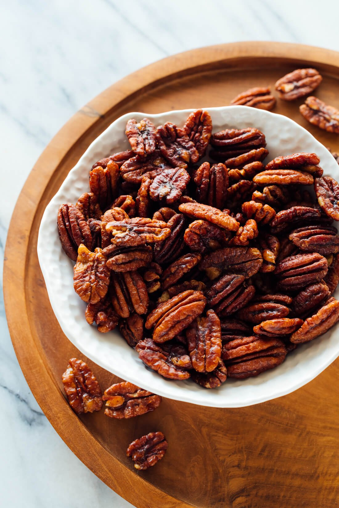 naturally sweetened candied pecans recipe