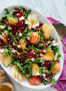 Pomegranate & Pear Green Salad with Ginger Dressing