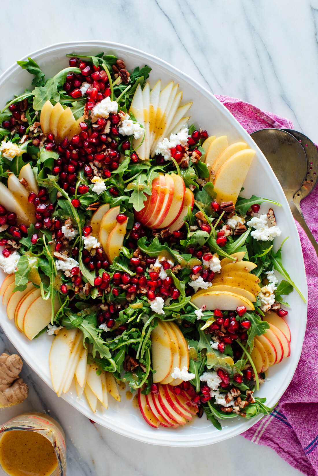 pomegranate pear arugula salad recipe