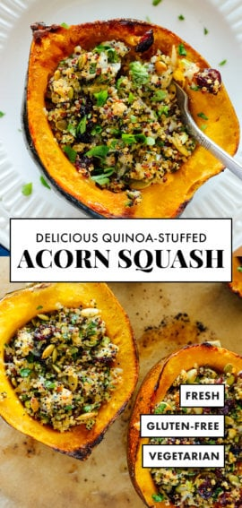 quinoa-stuffed acorn squash recipe vegetarian