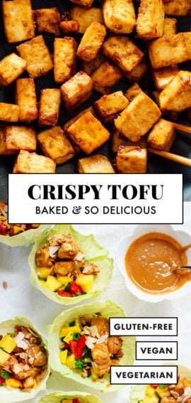crispy baked tofu recipe pin